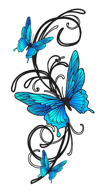 Premium Vector Tattoo Butterfly We've collected some of the most beautiful and creative butterfly tattoo designs we've ever seen to give you the inspiration you. https www freepik com profile preagreement getstarted 4249953