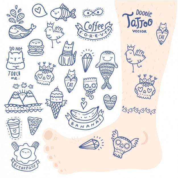 Tattoo Designs Collection Vector