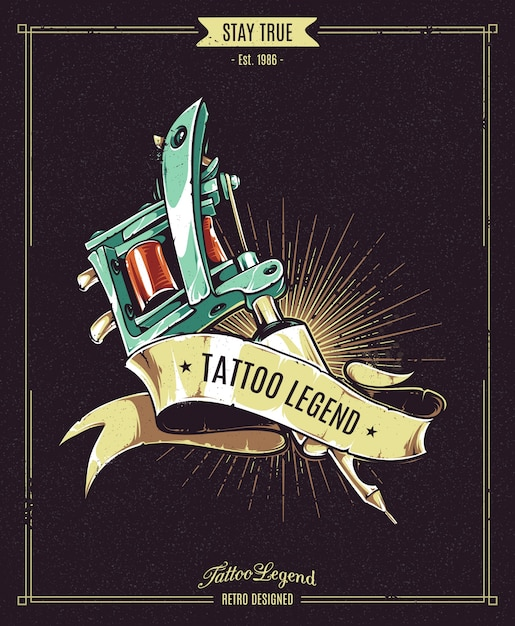 tattoo legend poster Free Vector