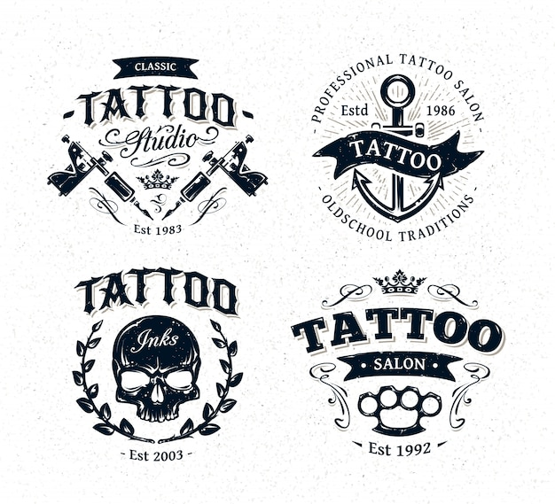 tattoo logo collection vector premium download. Black Bedroom Furniture Sets. Home Design Ideas