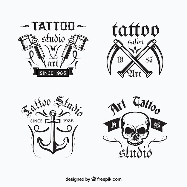 tattoo logo collection vector free download. Black Bedroom Furniture Sets. Home Design Ideas