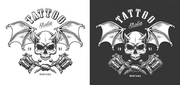 Emblema del salone del tatuaggio Vettore gratuito