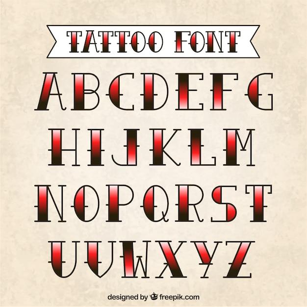 Tattoo typography Free Vector