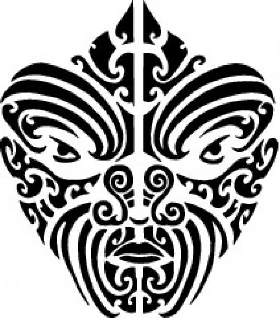 Tattood Maori Face Vector Free Download