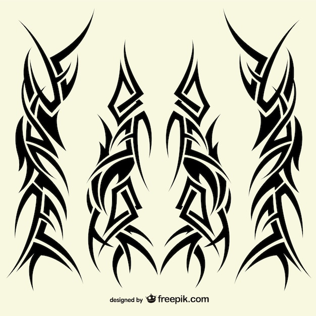Tattoos Tribal Designs Collection Vector Free Download