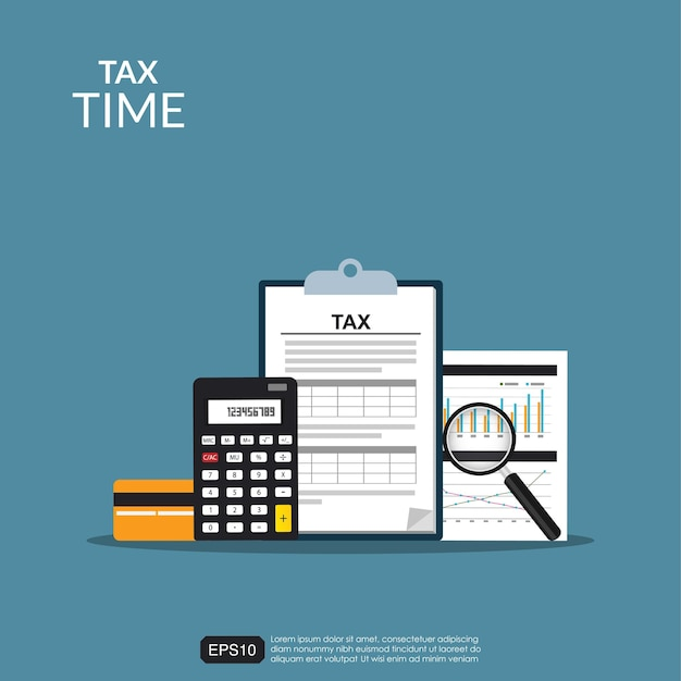 Tax accounting form concept Premium Vector