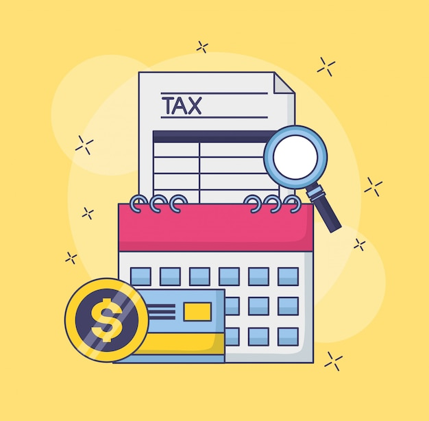 Tax payment concept Free Vector