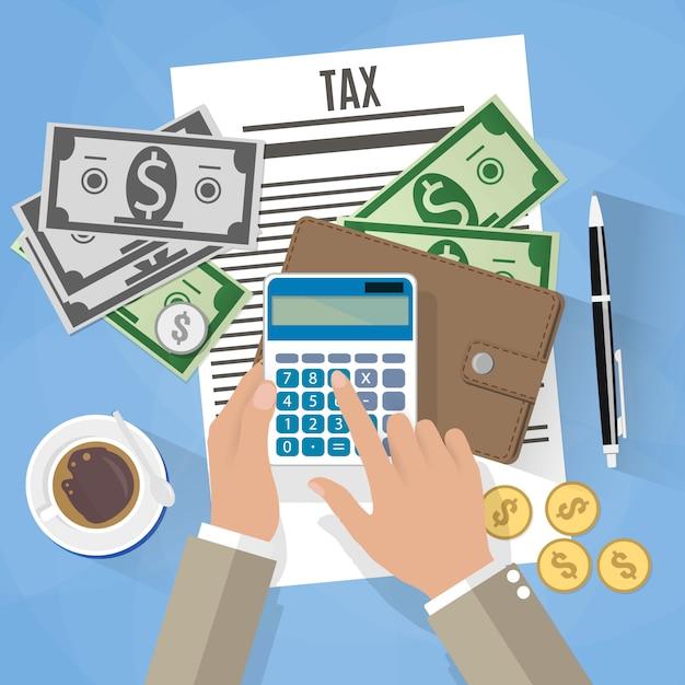 Tax payment illustration Premium Vector