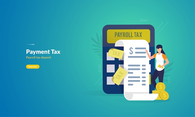 Tax payment report illustration concept Premium Vector