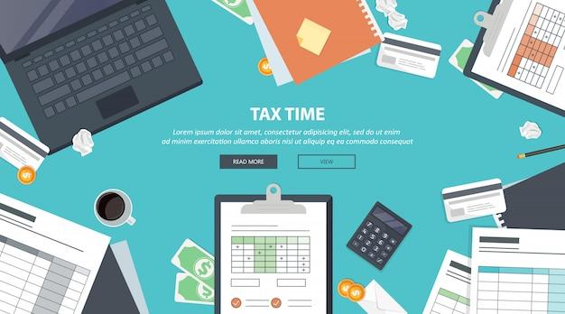 Tax payment Premium Vector