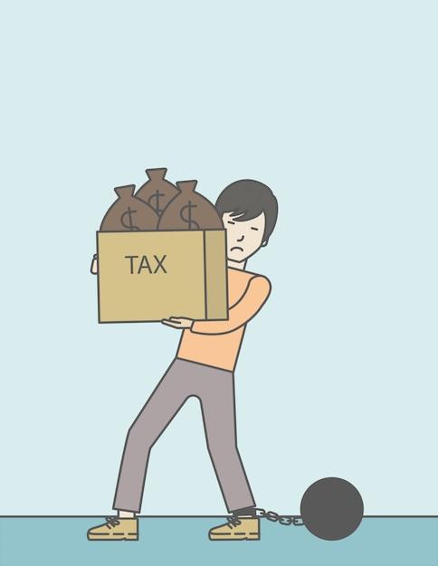 Tax slave. Premium Vector