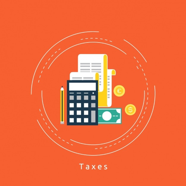 Taxes background design Free Vector
