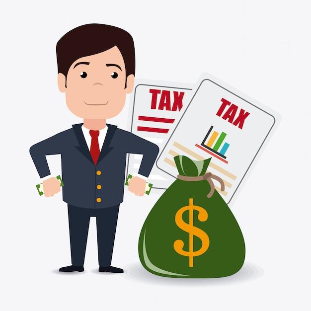 Taxes design. Premium Vector