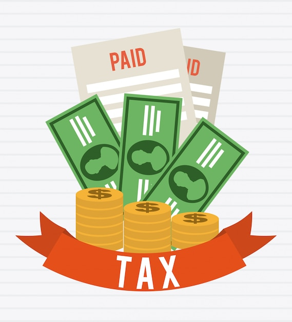 Taxes graphic design Free Vector