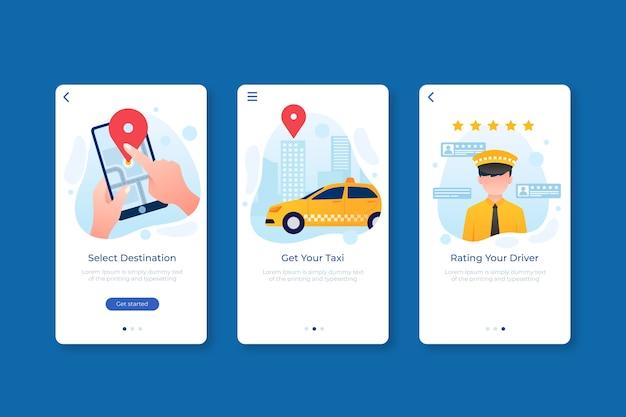 Taxi app interface concept Free Vector