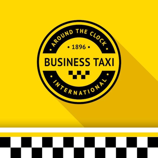 Taxi badge logo Premium Vector