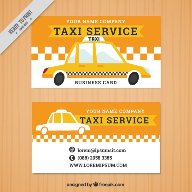 Taxi banners in vintage style Free Vector