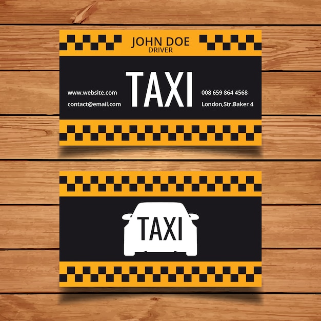 12+ Taxi Business Card Templates