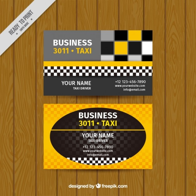 Taxi business card Free Vector