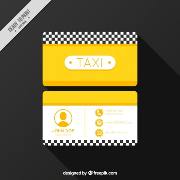 Taxi company, business card Free Vector