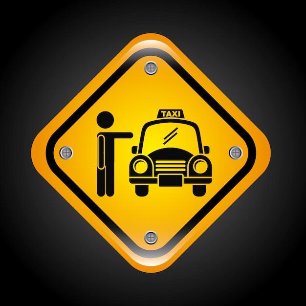 Taxi graphic design Free Vector
