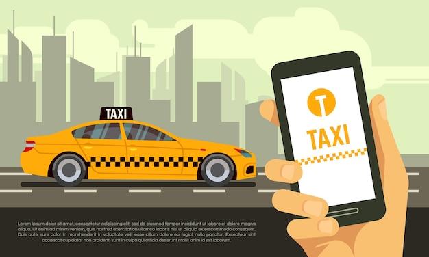 Taxi mobile app service Premium Vector