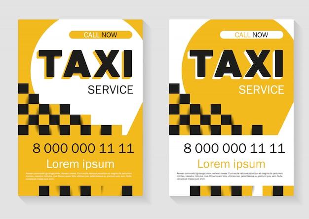 Такси сервис рекламы. модный шаблон Premium векторы