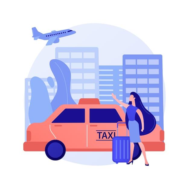 タクシー転送抽象的な概念図 無料ベクター
