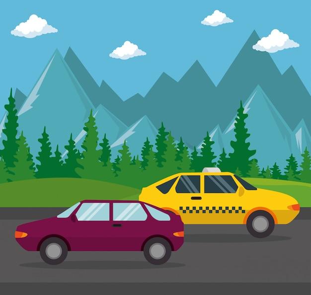 Taxi transport public Free Vector