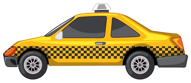 Taxi in yellow color Free Vector