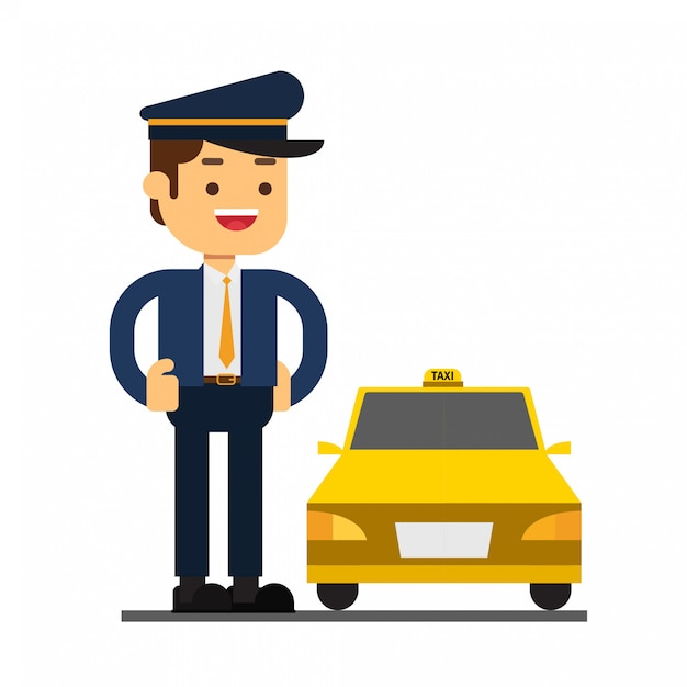 Значок аватара персонажа персонажа. драйвер taxi Premium векторы