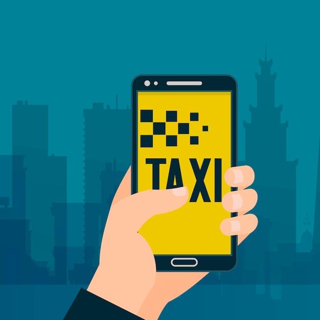 Taxidering в баннер на телефон. обмен автомобилями и аренда servicd. Premium векторы