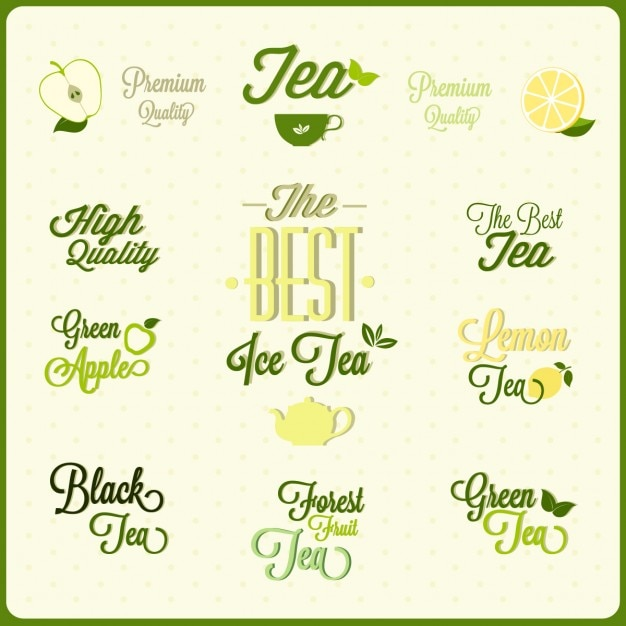 Tea badges Free Vector