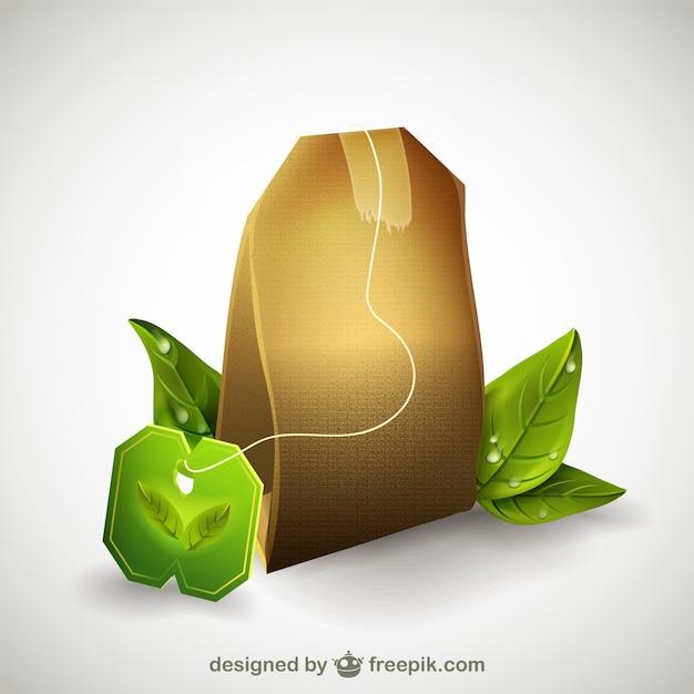 Tea bag illustration Free Vector