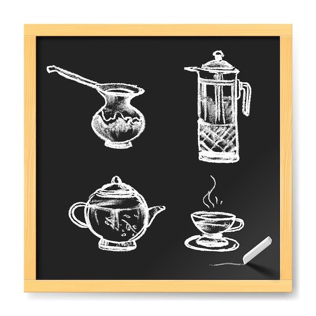 Tea and coffee Premium Vector