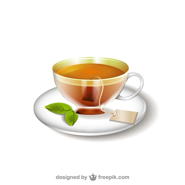 Tea cup illustration Free Vector