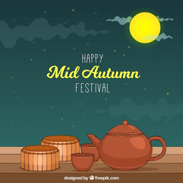Tea cups, mid autumn festival