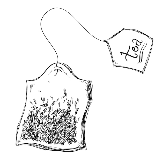 Tea design over white background vector illustration Premium Vector