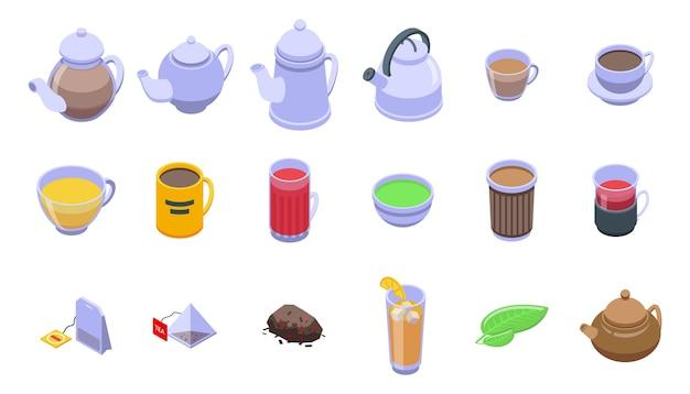 Tea icons set. Premium Vector