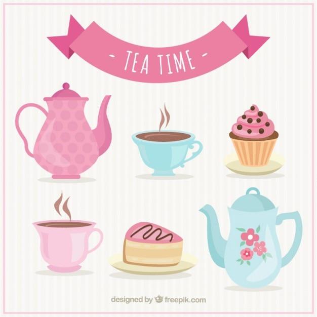 Tea time Vector   Premium Download