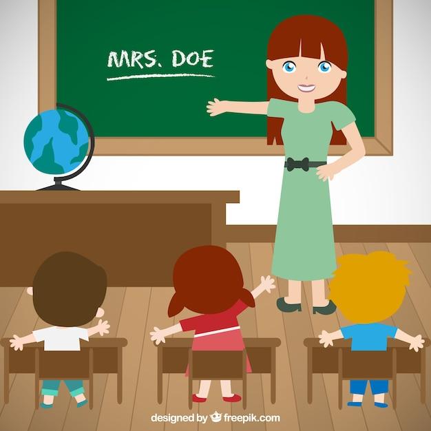 profesora animada