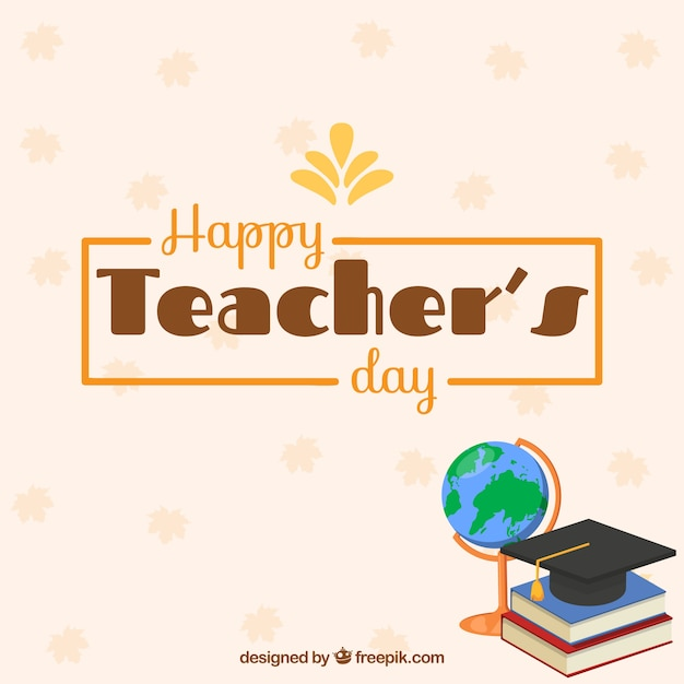Teacher\'s day background with elements
