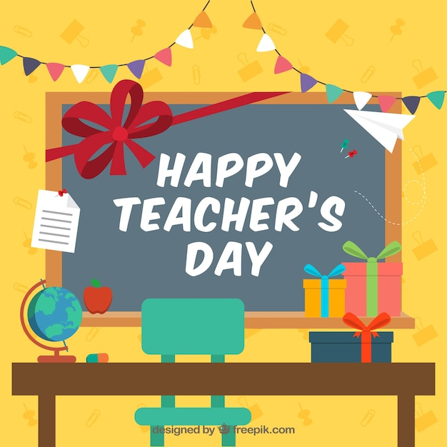 Teacher\'s day celebration in the\ classroom