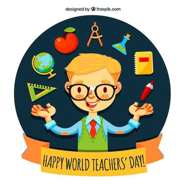 Teacher\'s day, exemplary student