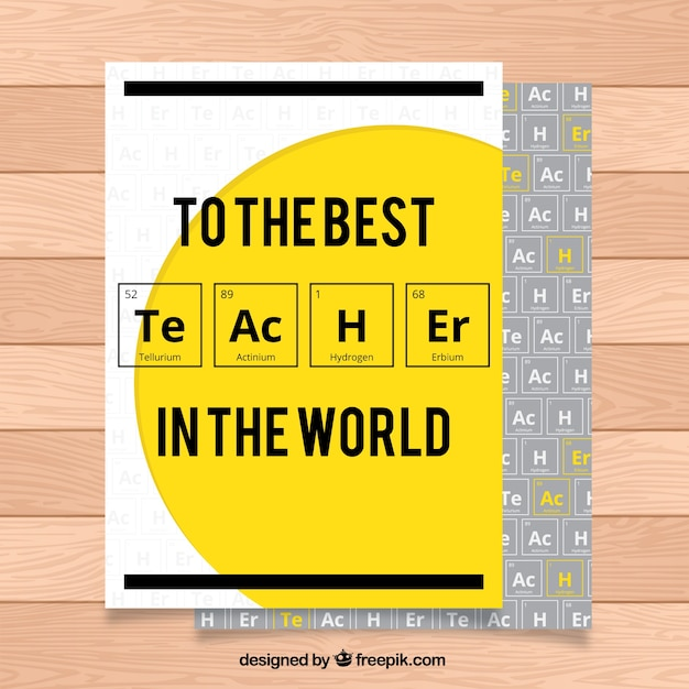 Teacher's day greeting with chemical elements Vector | Free