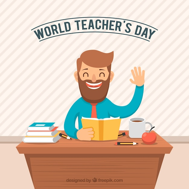 Teacher\'s day, smiling teacher