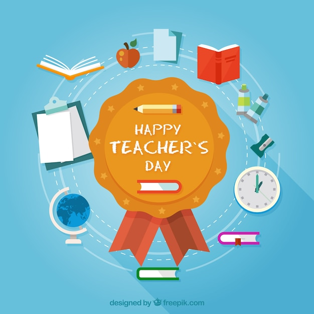 Teacher\'s day stamp