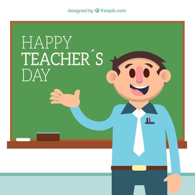 Teacher's day, sympathetic professor