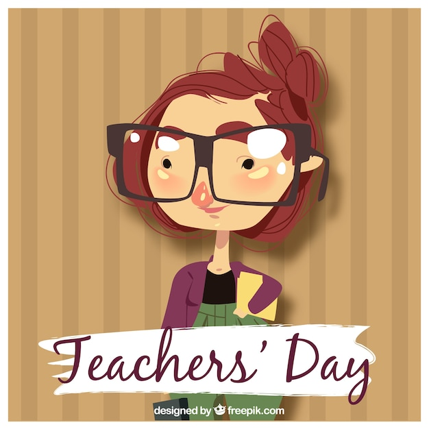 Teacher\'s day, teacher with glasses