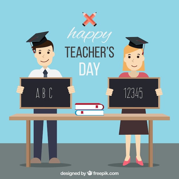 Teacher\'s day, two students